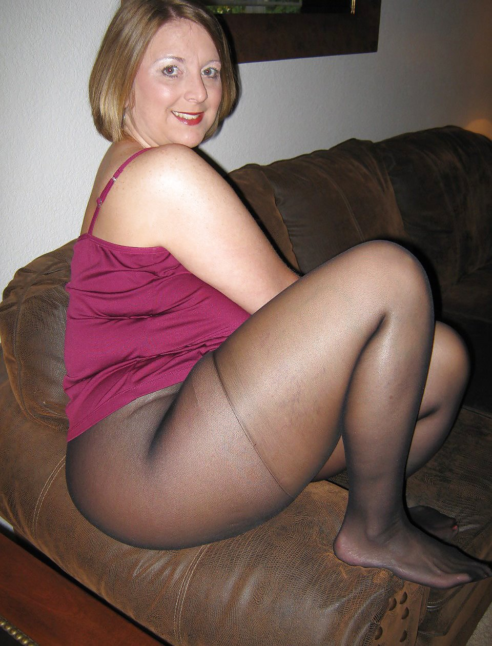 Wife in stockings chubby amateur