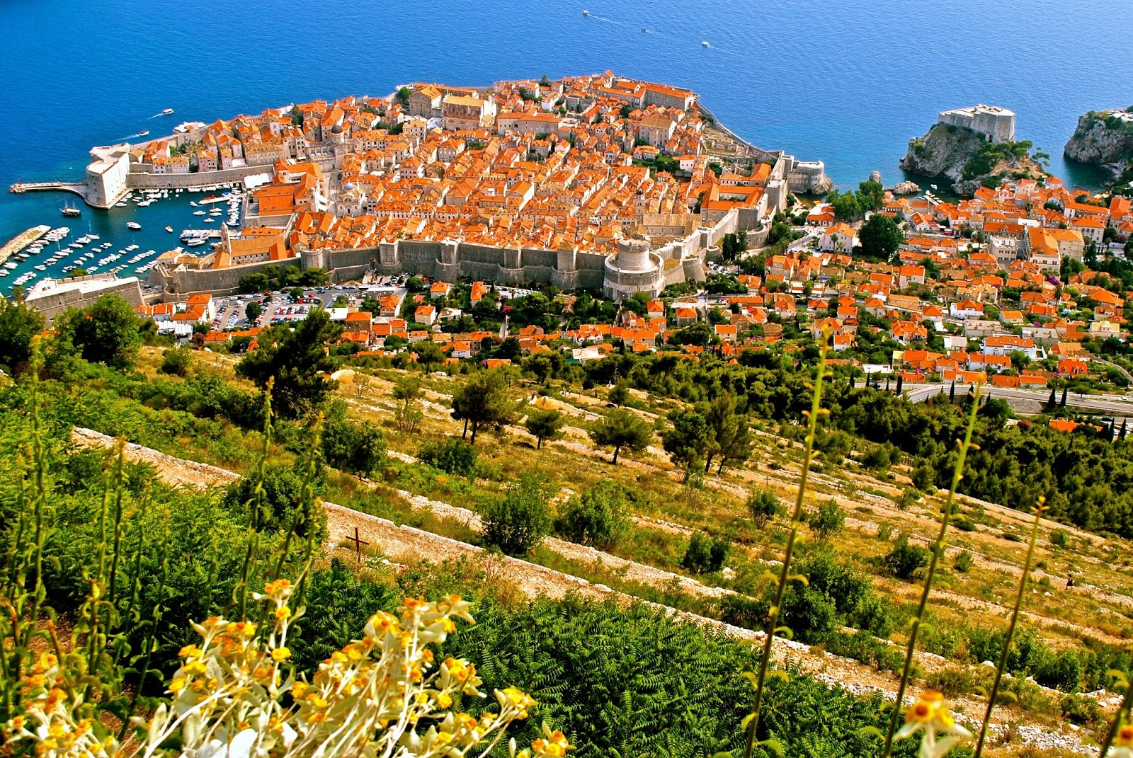 View of Dubrovnik from Mount Srdj