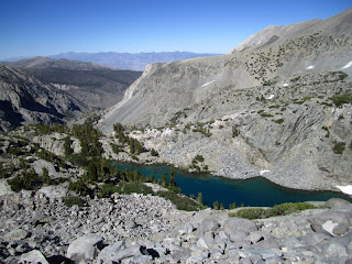 The view of Finger Lake while hiking up to the tarn.