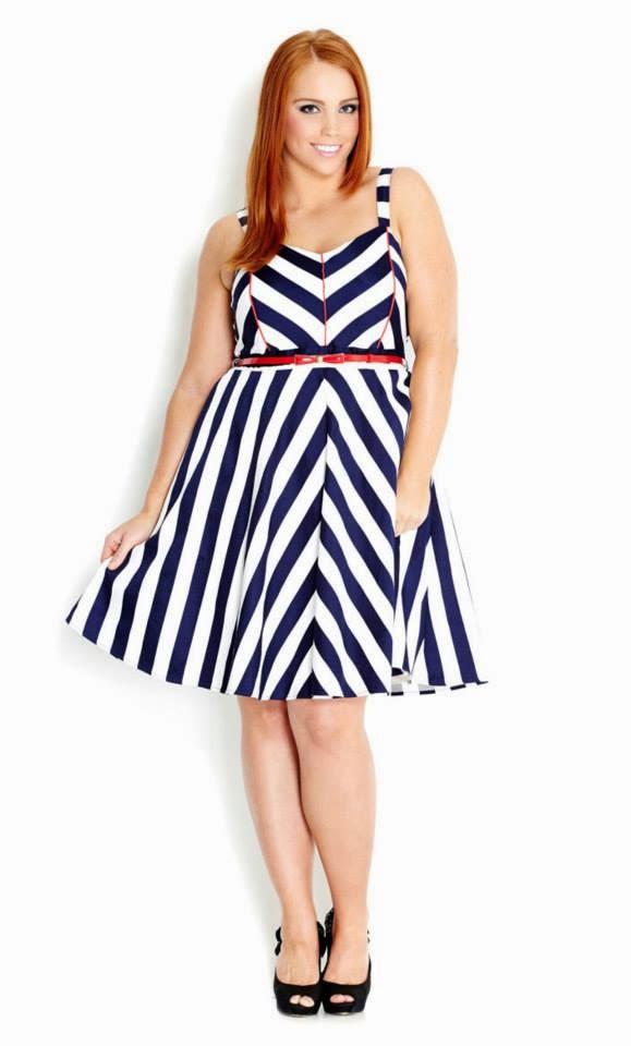 City Chic Blue Dress at City Chic // Sail Away Blue
