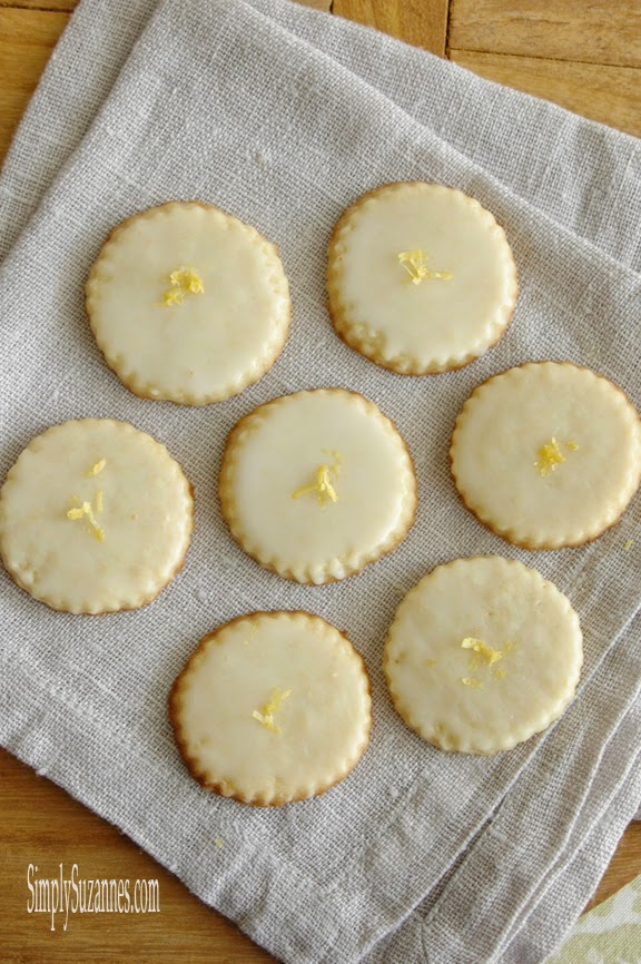 Simply Suzanne's AT HOME: glazed lemon cookies