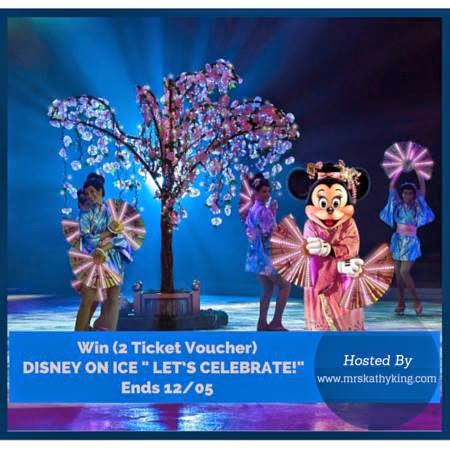 Enter the Disney on Ice Let's Celebrate Ticket Giveaway. Ends 12/5.