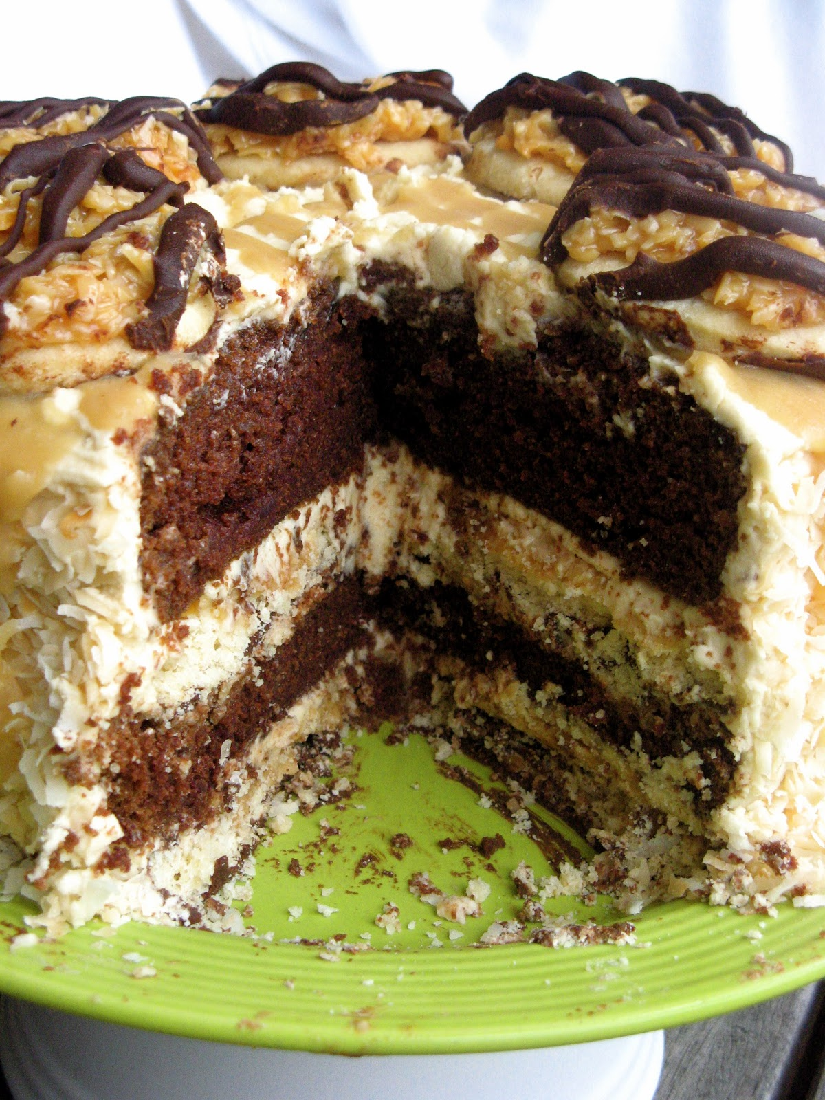 White Family Recipes Samoa Girl Scout Cookie Layer Cake