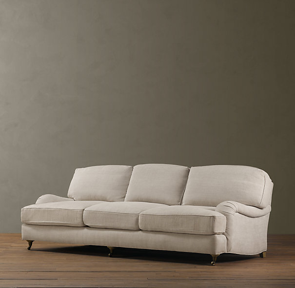 Copy Cat Chic Restoration Hardware English Roll Arm Sofa