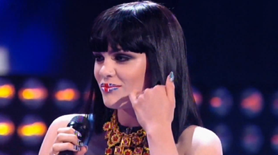 Jessie J, British lips, from performance at Britain's Got Talent, 2 June 2001.