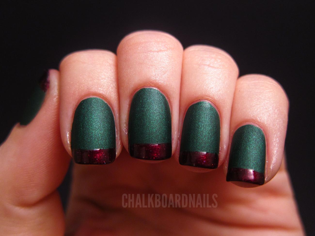 Holiday French Tips! | Chalkboard Nails | Nail Art Blog