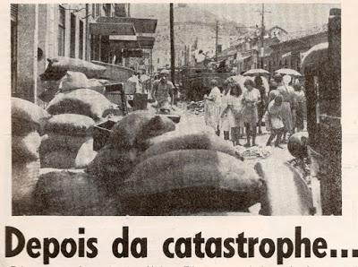 Rua Halfeld depois da enchente de 1940.   Suplemento do Diário Mercantil,   Março de 1941 (arquivo