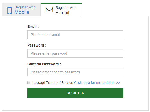 Register SA Vietnam Account