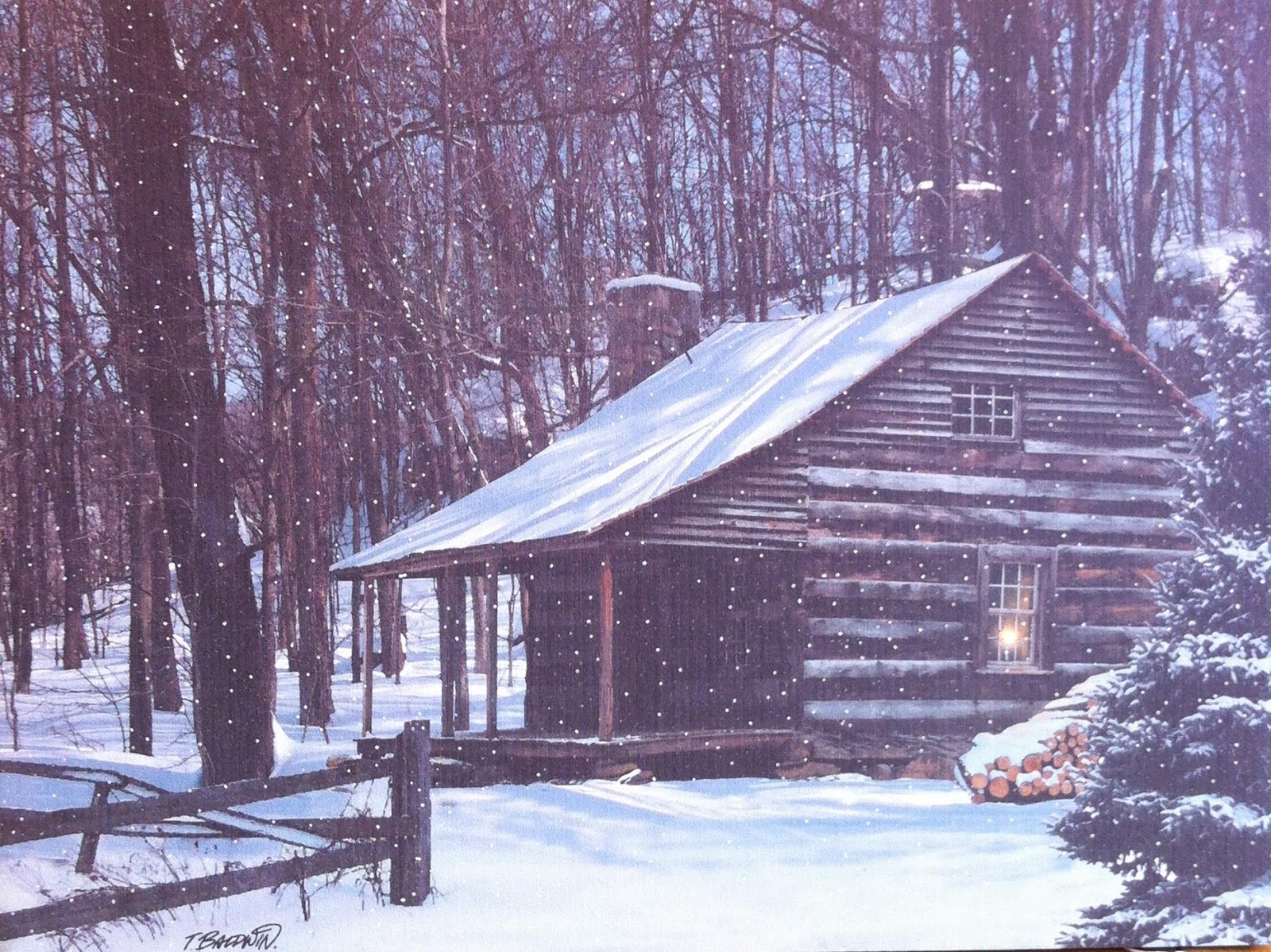 Marvelous photograph of Winter Log Cabin Of a log cabin in winter. with #334899 color and 1600x1199 pixels