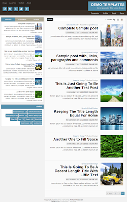 TheTuts Blue RTL Blogger Template
