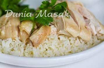 Dunia Masak - Resep Membuat Nasi Hainan Menggunakan Rice Cooker