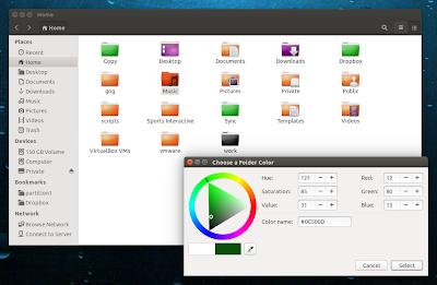 Folder Color Nautilus