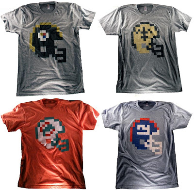 "8 Bit Apparel - ""Pittsburg"", ""New Orleans"", ""Miami"" & ""New York Giants"" T-Shirts"