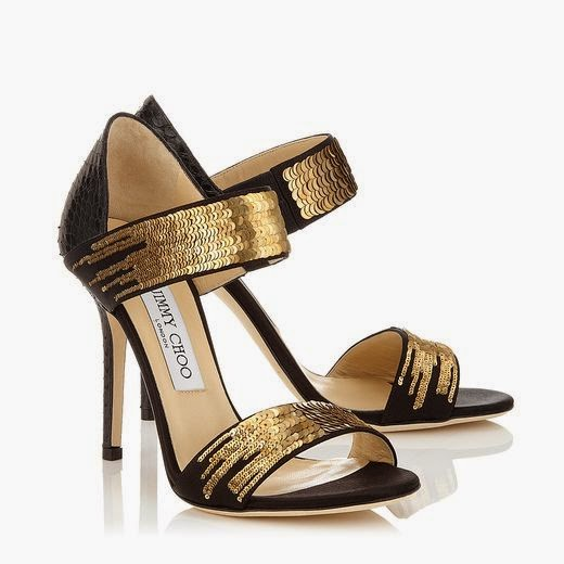 Black And Golden Shade High Heel