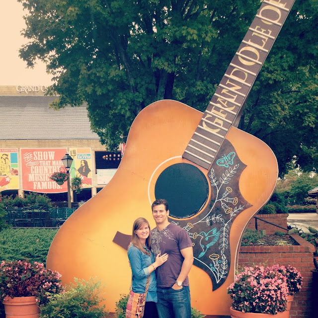 Big guitar at the Grand Ole Opry in Nashville on Semi-Charmed Kind of Life
