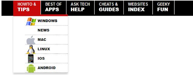 CSS Drop Down Navigation Menu With Link Logos