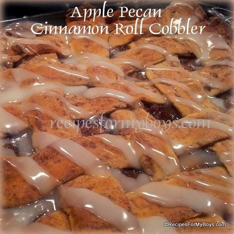 Apples, Pecans, Cinnamon Rolls, Cobbler, Pie, RecipesForMyBoys.com