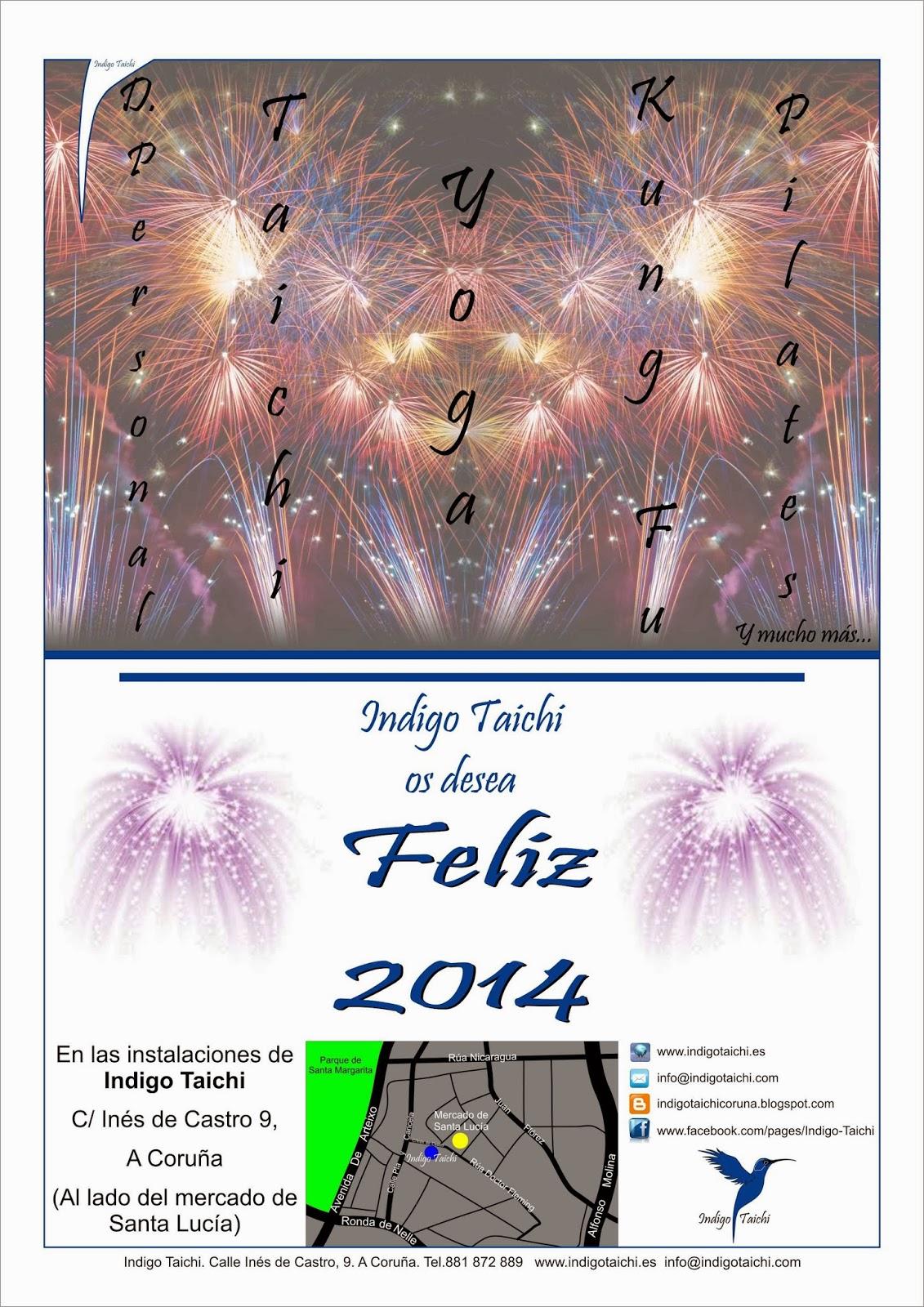 Feliz año 2014. Indigo Taichi.