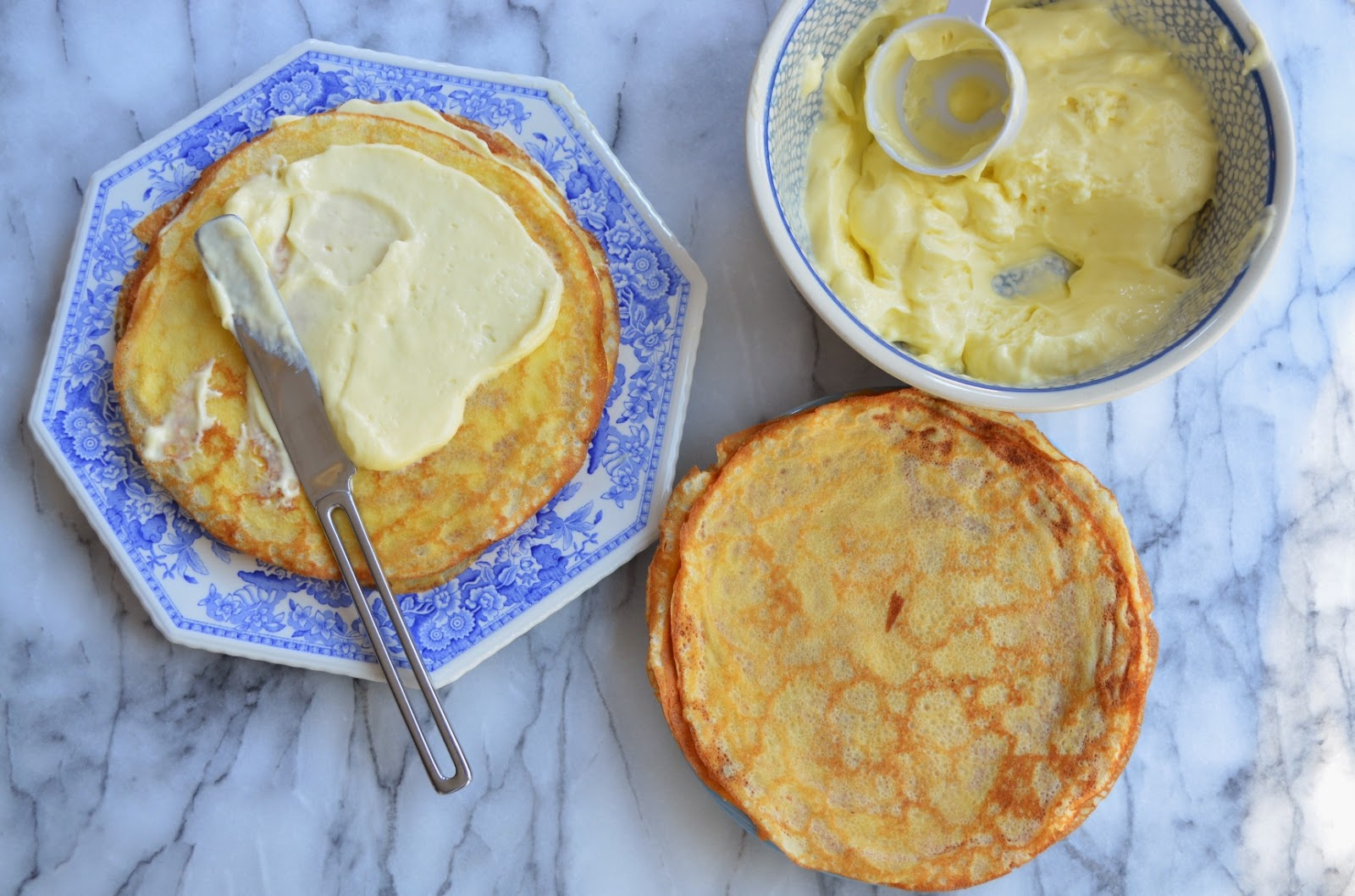 Crepe Cake with Mayer Lemon Mousse - Smell of Rosemary.