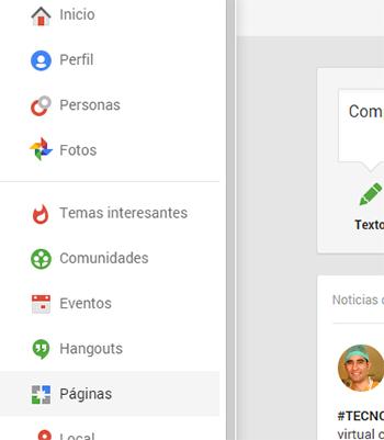 Como crear una pagina en Google Plus