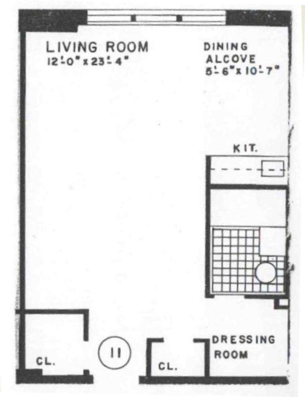 King Apartments Studio Floor Plans