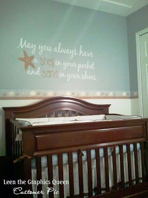 beachy nursery decor decal
