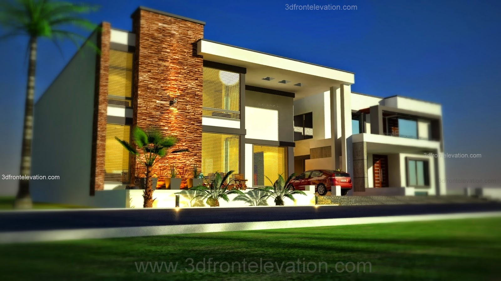 3d front 1 kanal modern simple elegant for Elegant home design