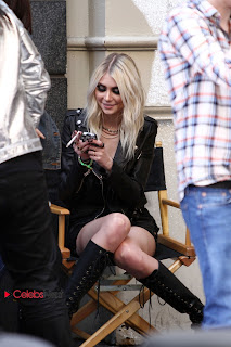 Taylor Momsen Pictures in Leather Jacket at Shooting in NYC ~ Celebs Next