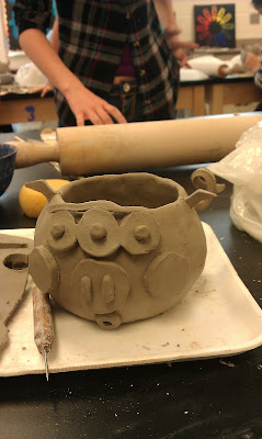 Art With Mrs Kennedy 8th Grade Ceramics Monster Planters