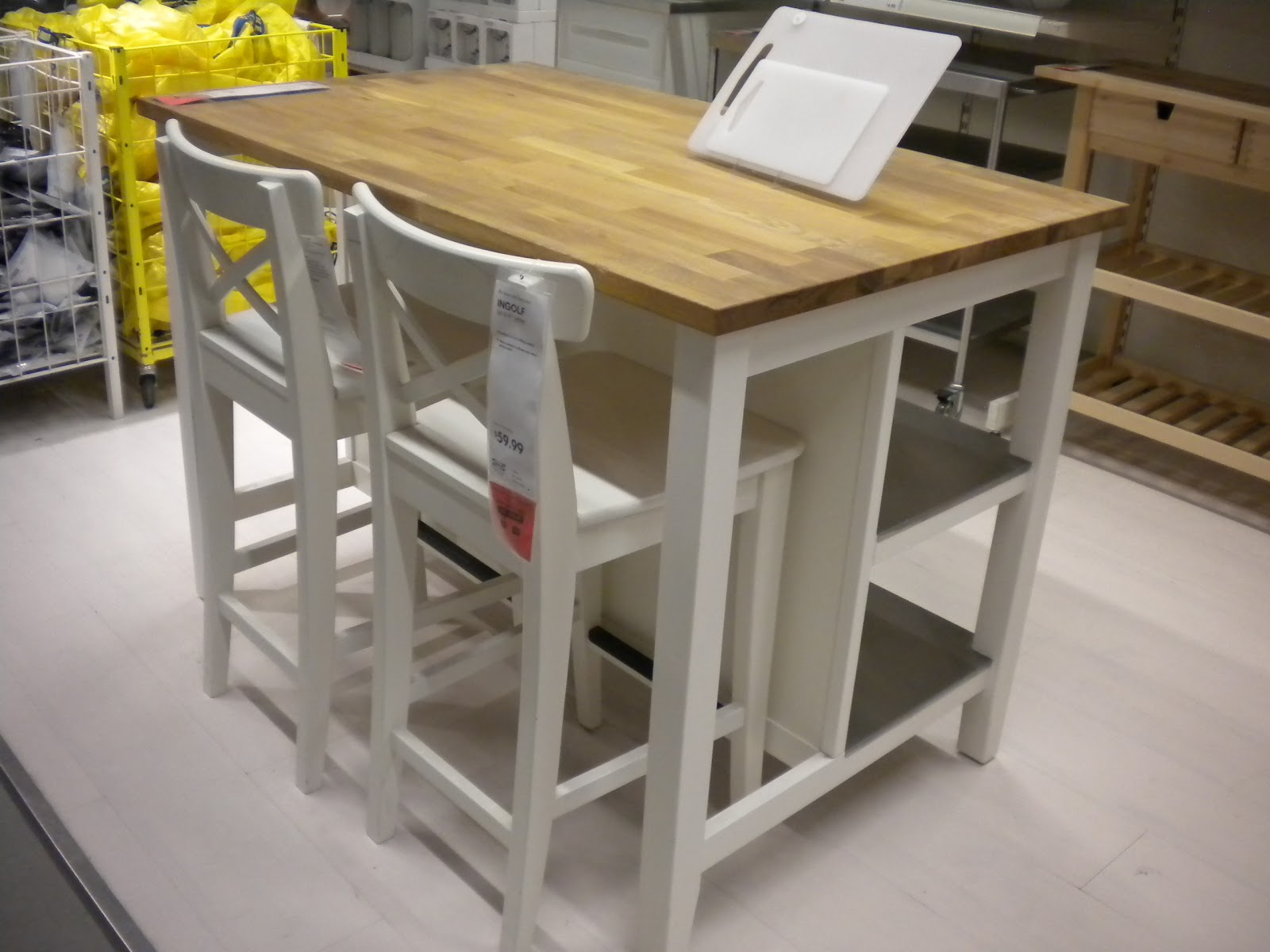 ikea island as craft table simplify organize pinterest