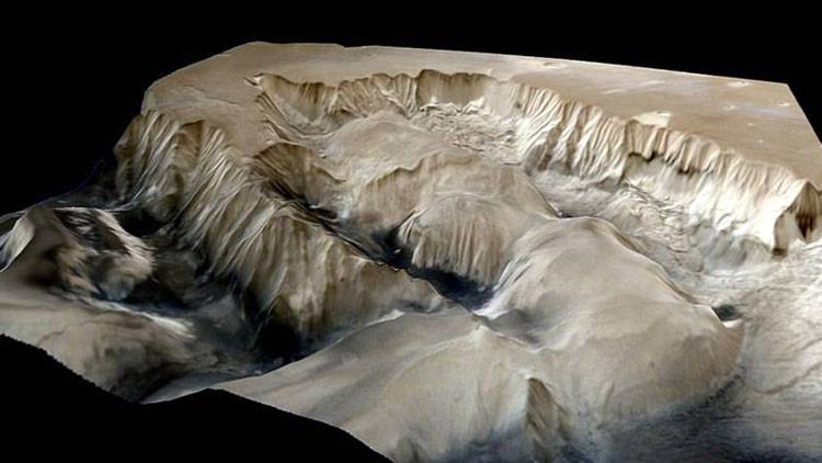 El gran cañón de Marte.