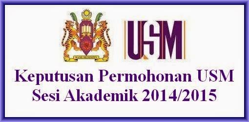 Keputusan Permohonan USM 2014