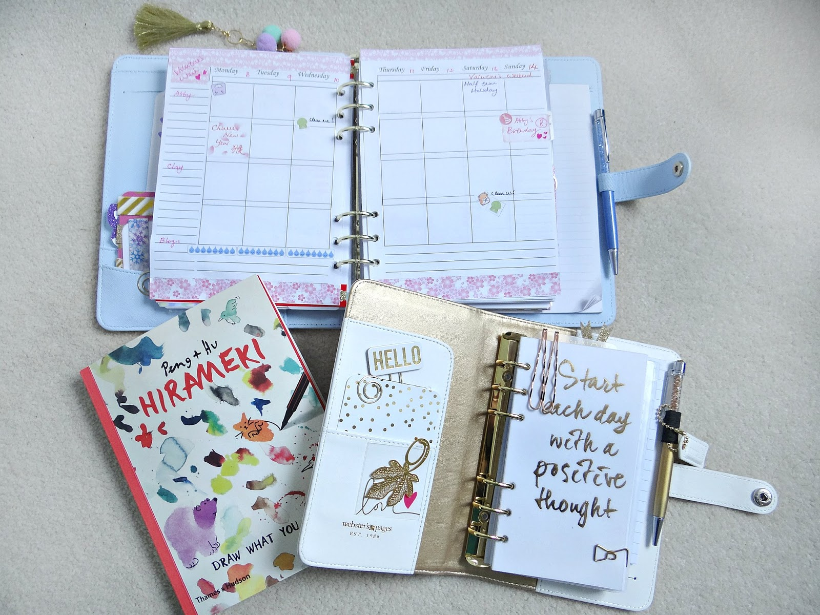 Planner Spread, Kikki K, Websters' Pages