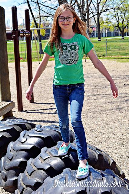 girl at park