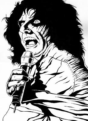 Desenho de Alice Cooper