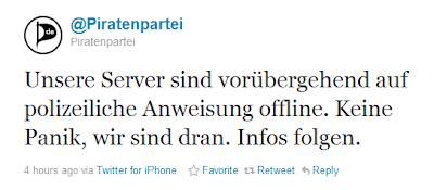 Server der Piratenpartei zwei Tage vor Wahl in Bremen abgeschaltet
