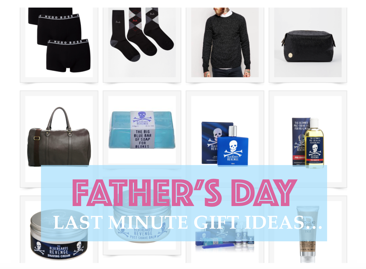 Uh oh... who forgot it's Father's Day this weekend? LAST MINUTE GIFT IDEAS!
