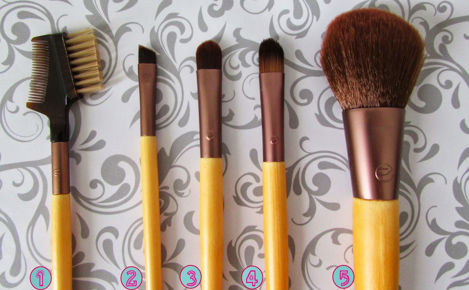 Kit, pincéis, básicos, maquiagem, olhos, EcoTools