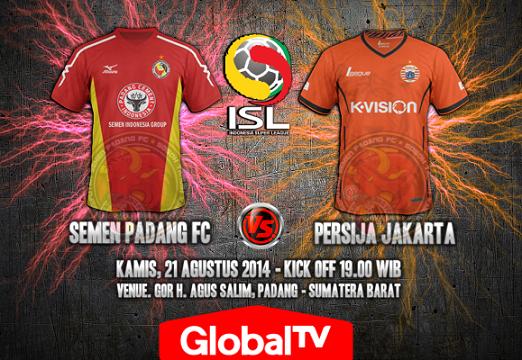 Semen Padang vs Persija Jakarta ISL 2014