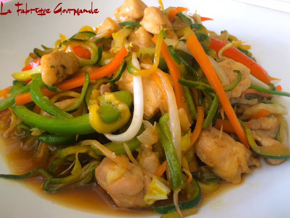 La fabrique gourmande zoodle lo mein au poulet for Allez cuisine translation