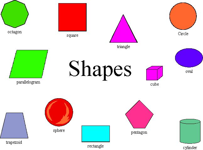 Worksheets Shape With Name no name vocabulary part of body and shape shape