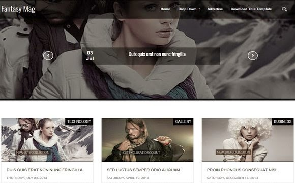 InFashion Blogger Template