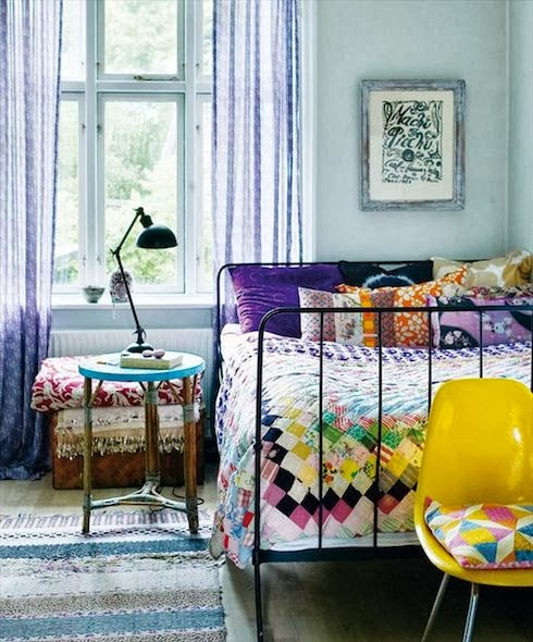 Boho Chic Style For Colorful Bedroom Theme