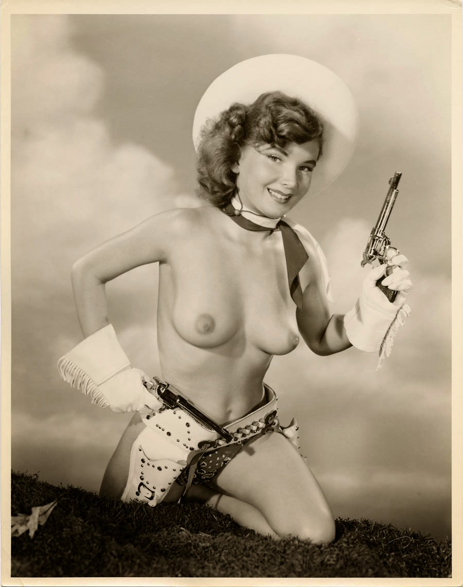 old fashion nude cowgirl