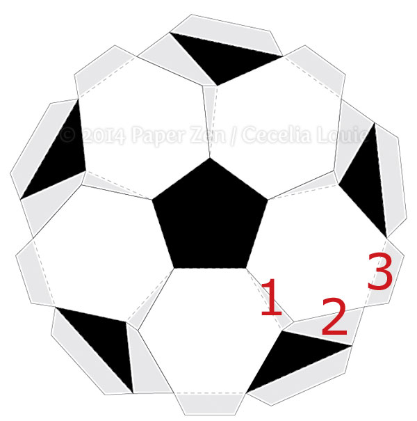 Welcome To Paper Zen Cecelia Louie 3d Soccer Ball Birthday Card
