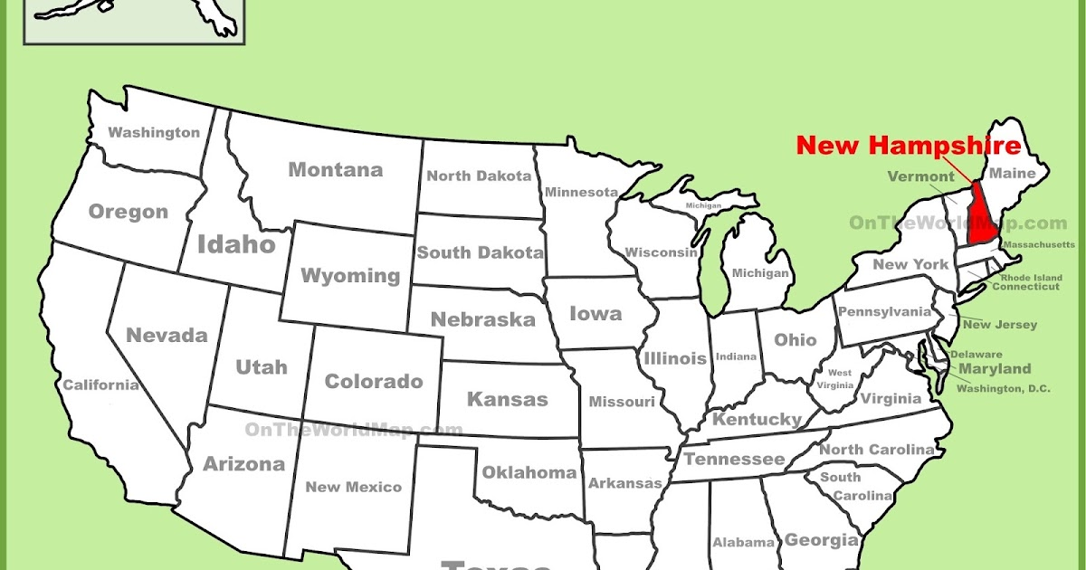 Map Of New Hampshire State Map Of America