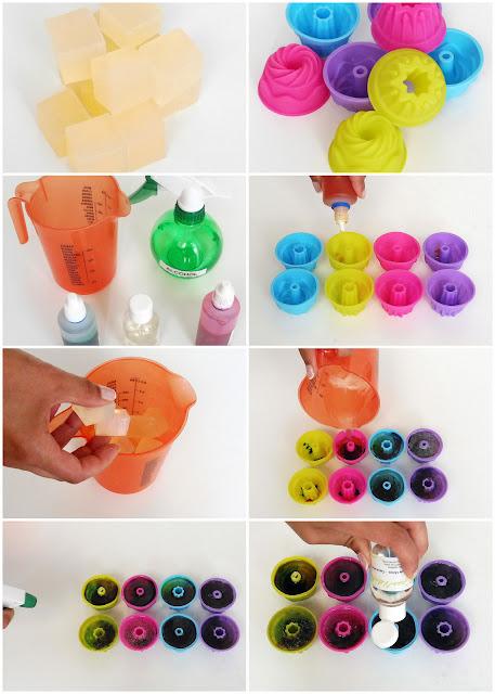 TIP tutorial para hacer jabón de colores