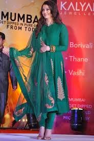 Aishwarya in Black Anarkali Suit
