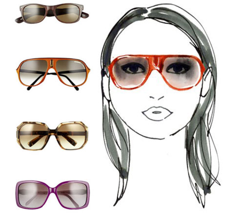 Eyeglass Frames Round Face Shapes : The Adorkable One.: Finding the Right Sun Glasses for Your ...
