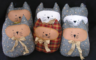 Kitty cloth dolls as donations